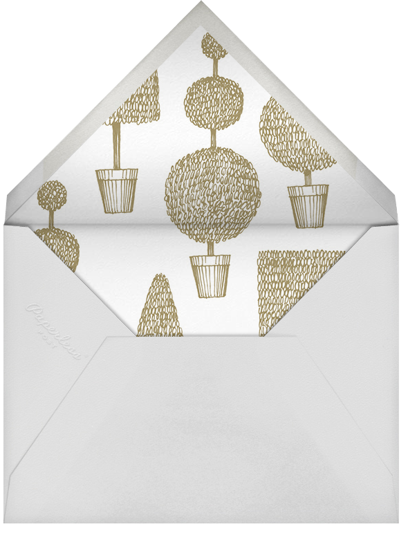 Garland - Sepia - Paperless Post - Holiday party - envelope back