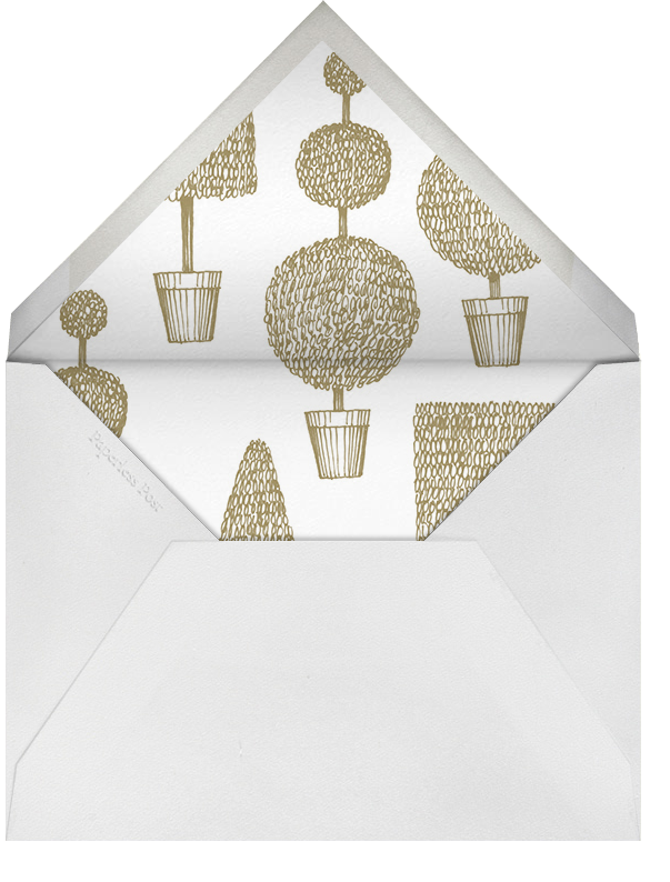 Garland (Square) - Sepia - Paperless Post - Baby shower - envelope back