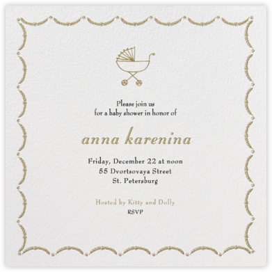 Garland (Square) - Sepia - Paperless Post - Baby Shower Invitations