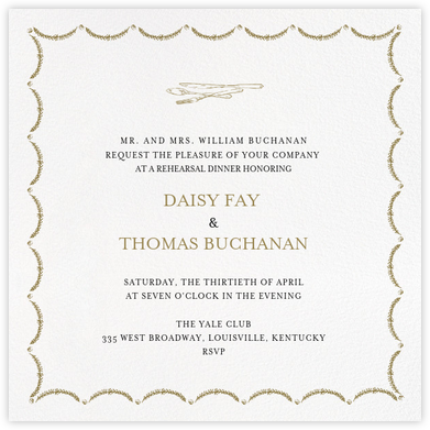 Garland (Square) - Sepia - Paperless Post - Wedding Weekend Invitations