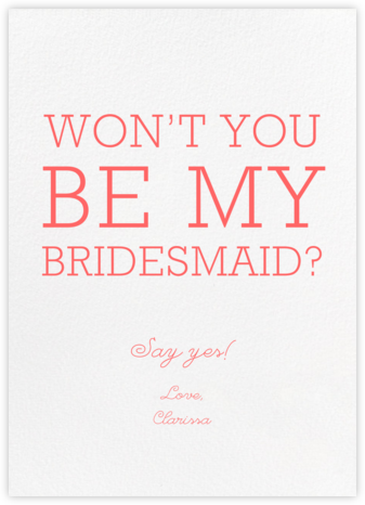 Ivory - Paperless Post - Will You Be My Bridesmaid Cards