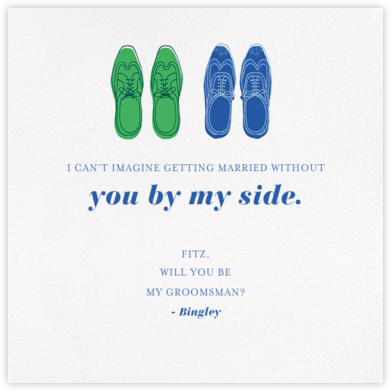 His and His - Paperless Post - Will You Be My Bridesmaid Cards