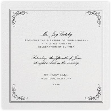 Regency (Square) - Black - Paperless Post - General Entertaining Invitations