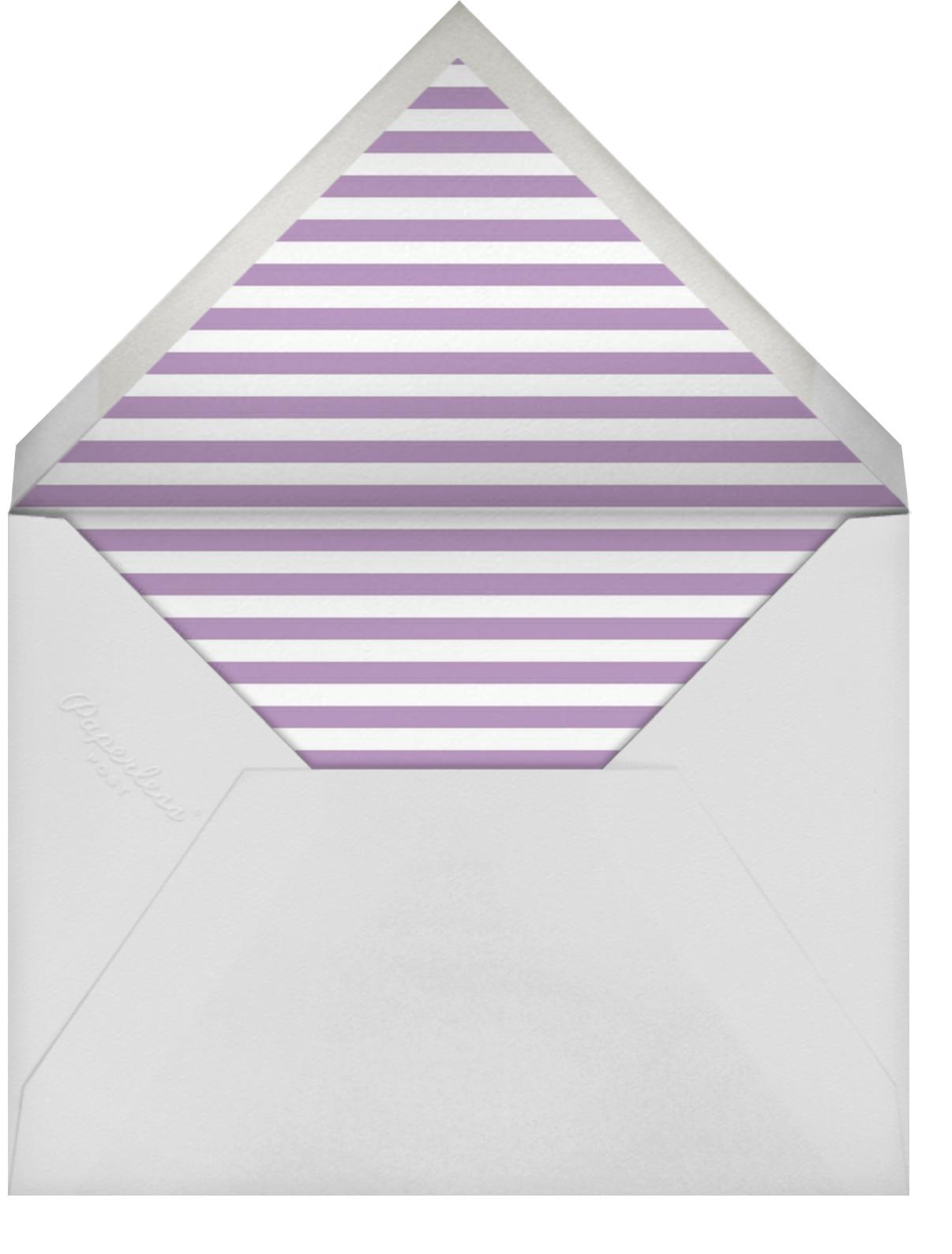 Zebra Stripes (Eggplant)  - Paperless Post - Adult birthday - envelope back