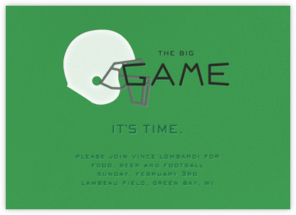 The Big Game - Paperless Post - Sporting Event Invitations