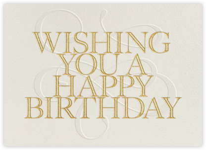 Wishing You A Happy Birthday - Paperless Post - Online Greeting Cards