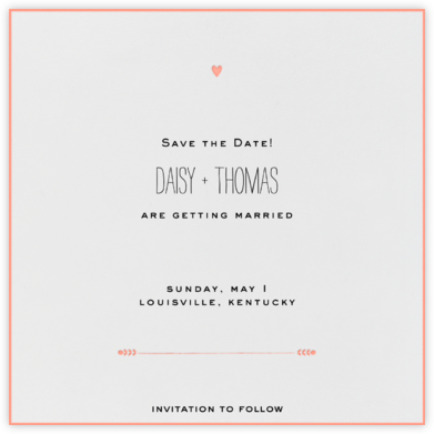 The Raleigh - Guava - Mr. Boddington's Studio - Save the dates