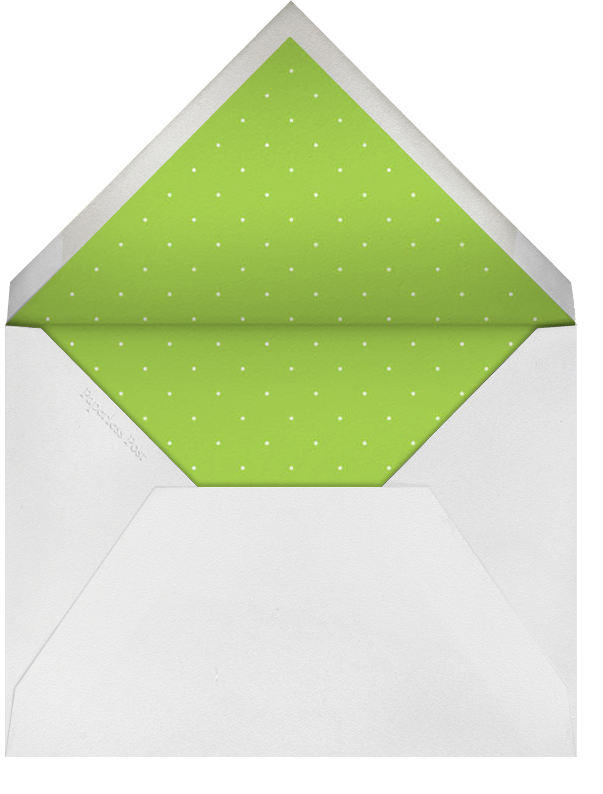 Supergraphic Ribbon - Green - Paperless Post - Summer entertaining - envelope back