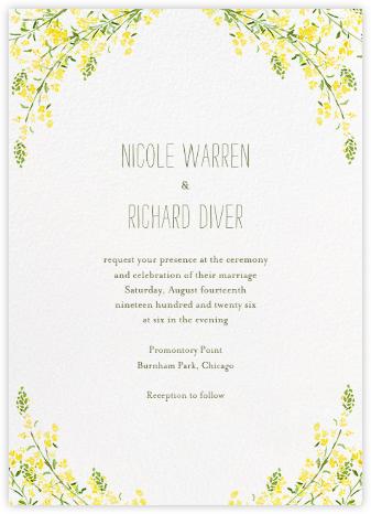 Heathers (Invitation) - Yellow - Paperless Post - Romantic wedding invitations