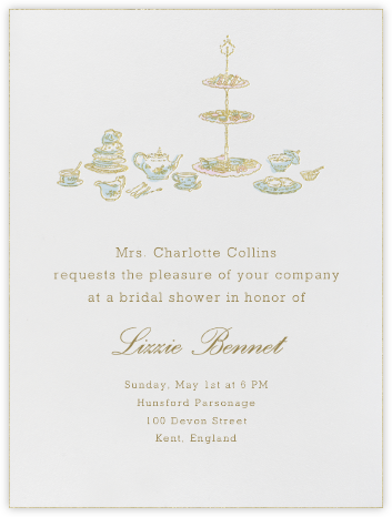 High Tea - Blue - Paperless Post - Bridal shower invitations