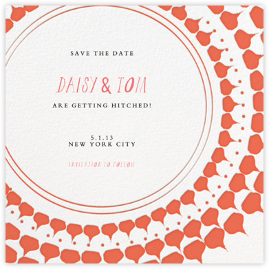 Spec in Capri - Coral  - Mr. Boddington's Studio - Save the dates