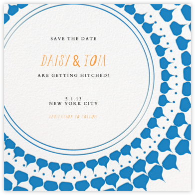 Spec in Capri - Blue - Mr. Boddington's Studio - Save the dates