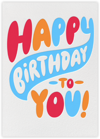 Birthday Bubble Letters - Paperless Post - Birthday Cards for Him