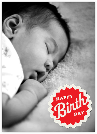 Birthday Burst Sticker - Paperless Post - Birthday Cards for Him
