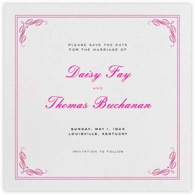 Regency (Square) - Pink - Paperless Post - Save the dates