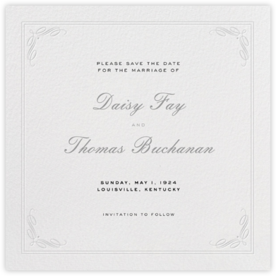 Regency (Square) - Gray - Paperless Post - Save the dates