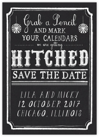 White Chalk - Mr. Boddington's Studio - Save the date cards and templates