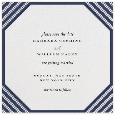 Claridge (Square) - Navy - Paperless Post - Save the dates