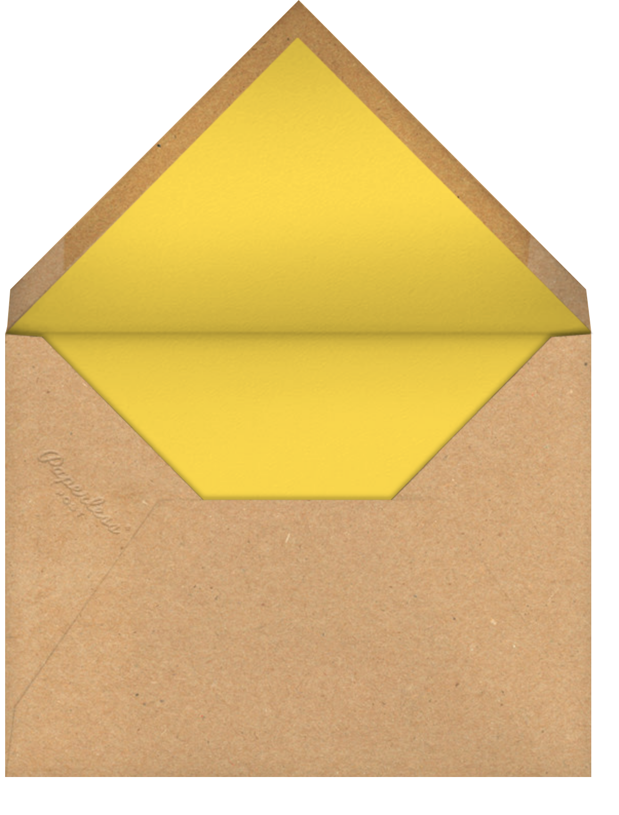 Script Heart - Kraft - Paperless Post - Party save the dates - envelope back