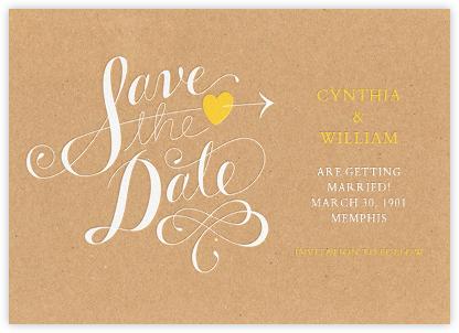 Script Heart - Kraft - Paperless Post - Save the dates