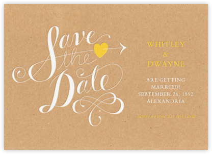 Script Heart - Kraft - Paperless Post - Save the dates
