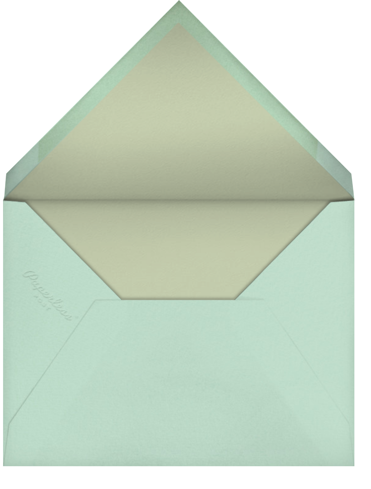 Script Heart - White/Sage - Paperless Post - Party save the dates - envelope back