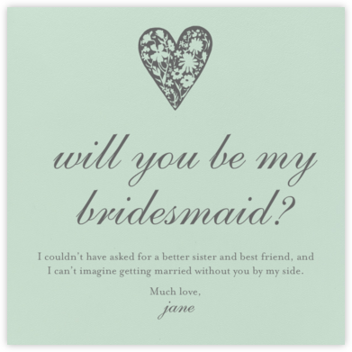 Mint - Paperless Post - Will You Be My Bridesmaid Cards