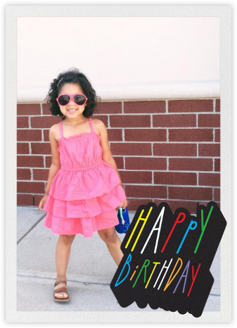 Confetti Letters - Happy Birthday - Paperless Post - Birthday Cards