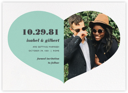 Love Saves the Date - Celadon - Paperless Post - Photo save the dates