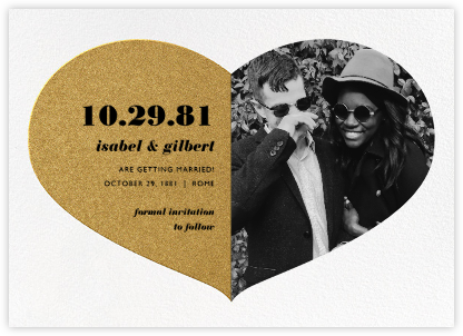 Love Saves the Date - Gold - Paperless Post -