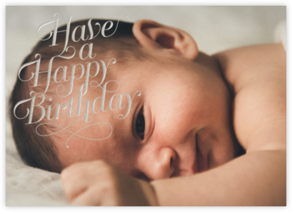 Have A Happy Birthday - silver - Paperless Post - Birthday Cards