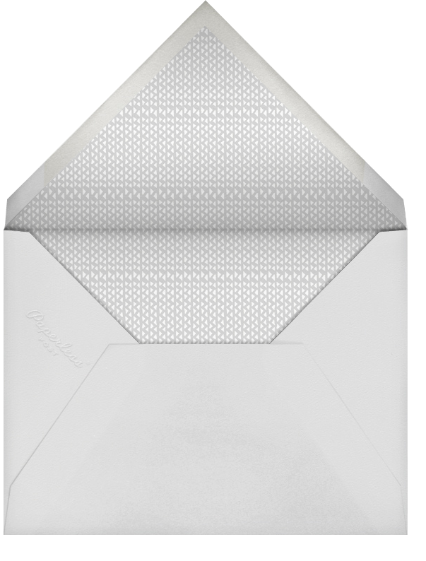 Brocade - Fog with Ivory (Square) - Paperless Post - Envelope