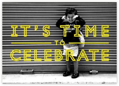 It's Time To Celebrate - Yellow - Paperless Post -