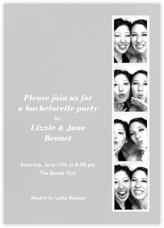 Photo Booth - Fog - Paperless Post - Bachelorette Party Invitations