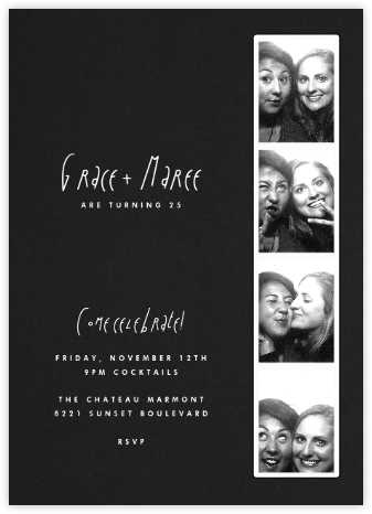 Photo Booth - Pitch - Paperless Post - Adult birthday invitations