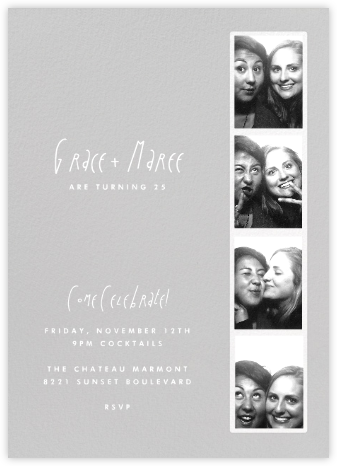 Photo Booth - Fog - Paperless Post - Adult Birthday Invitations