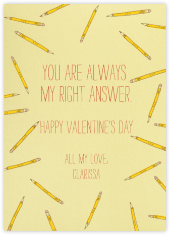 Scattered Pencils - Paperless Post - Valentine's Day Cards