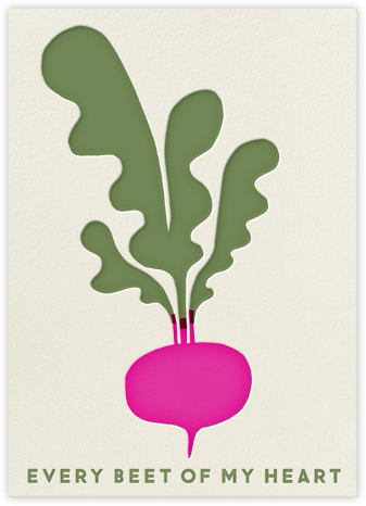 Beet of My Heart - The Indigo Bunting - Valentine's day cards