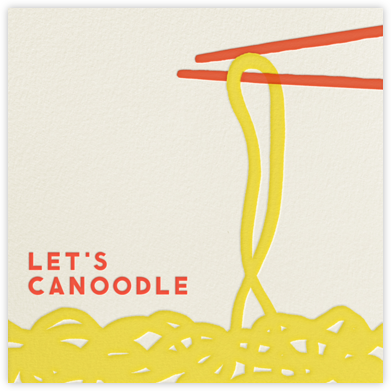 Let's Canoodle - The Indigo Bunting - Anniversary Cards