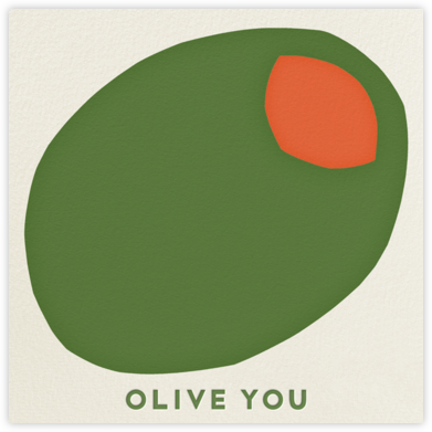 Olive You - The Indigo Bunting - Funny Valentine's Day cards