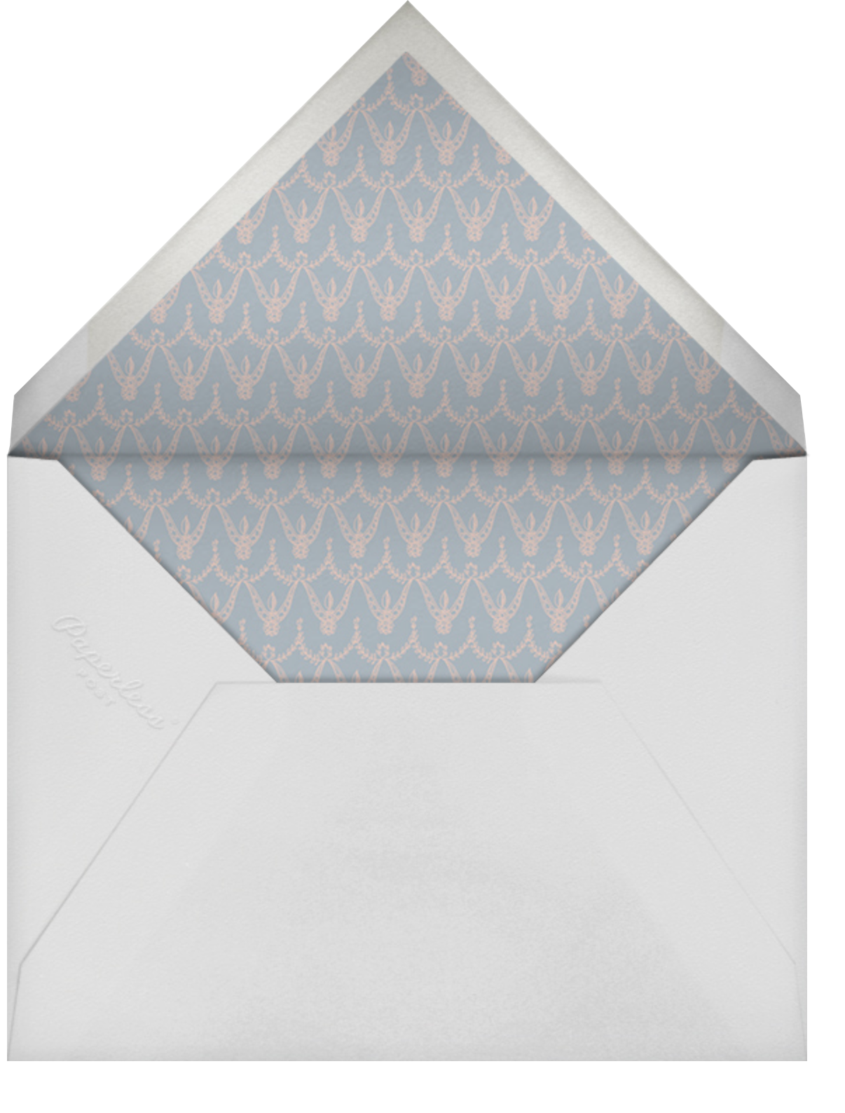 Damask - Ivory with Silver (Border) - Paperless Post - Envelope