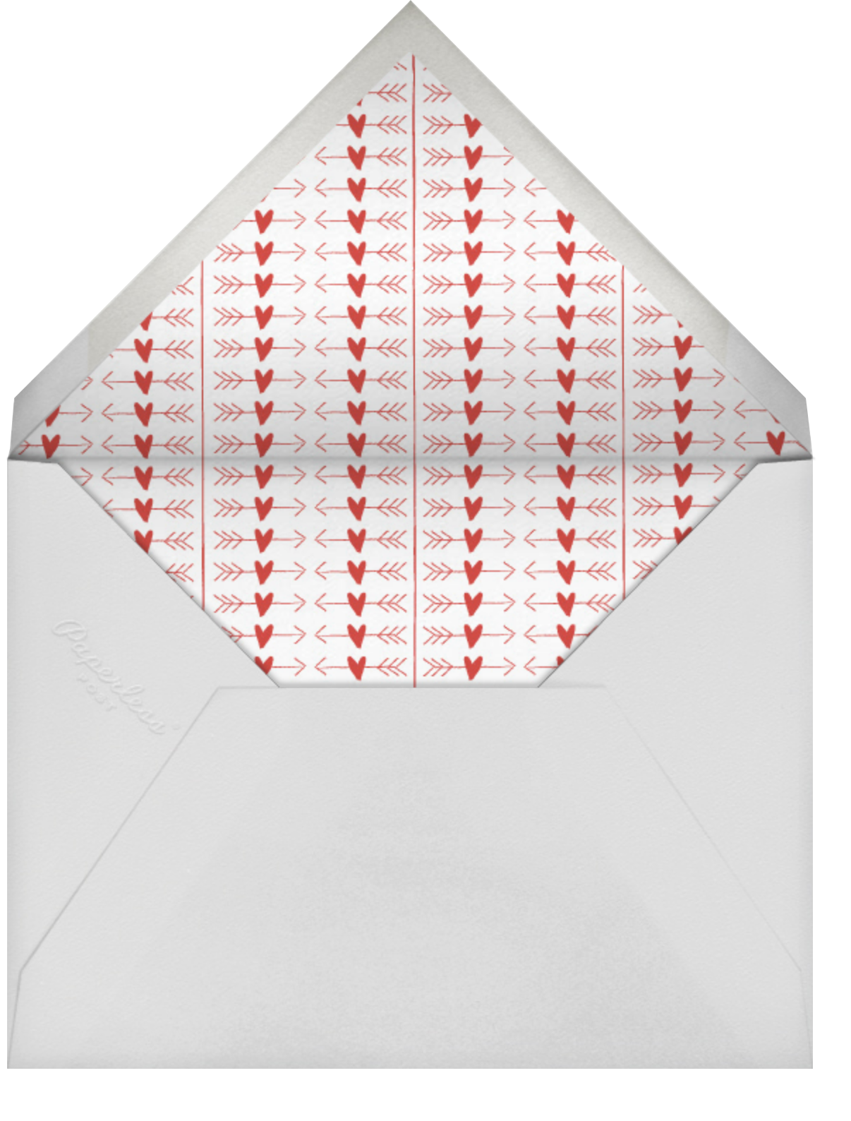 Painted Circle - Paperless Post - Valentine's Day - envelope back