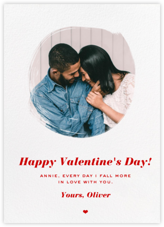 Painted Circle - Paperless Post - Valentine's Day Cards