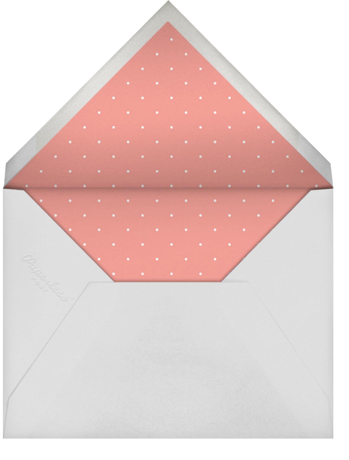 Little Miss Homemaker (Guava) - Mr. Boddington's Studio - Bridal shower - envelope back