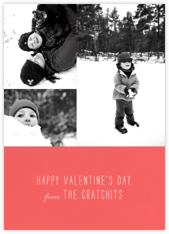 Split Screen Triad - Coral - Paperless Post - Valentine's Day Cards