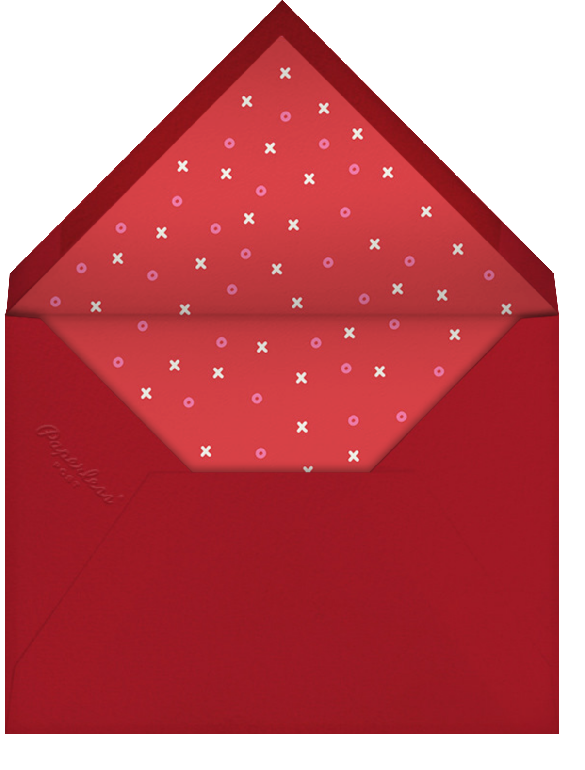 Love Saves the Date - Red - Paperless Post - Valentine's Day - envelope back