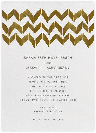 Big Zig Zag - Brown - Linda and Harriett - Wedding Invitations