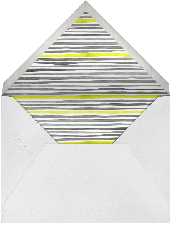 Watercolor Stripes - Gray and Neon - Linda and Harriett - null - envelope back