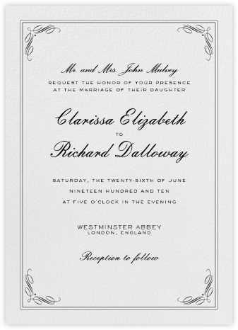 Regency (Tall) - Black - Paperless Post - Wedding Invitations
