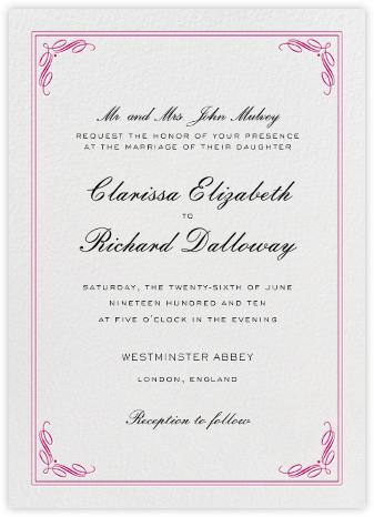 Regency (Tall) - Pink - Paperless Post - Wedding Invitations